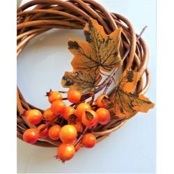 Bobulky oranžové na větvičce s lístečky