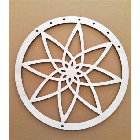 Kruh z překližky s výpletem pro výrobu lapače snů 25 cm