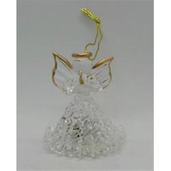 Andílek skleněný svítící na zavěšení 5,5 cm
