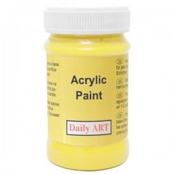 Akrylová barva citronová žlutá 100 ml, DailyART