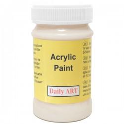 Akrylová barva květinová bílá 100 ml, DailyART