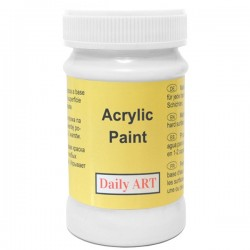 Akrylová barva bílá 100 ml, DailyART