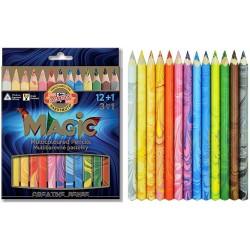 Trojhranné pastelky Magic sada 12+1 barev
