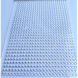 Samolepící akrylové kamínky stříbrné 3mm 750 ks