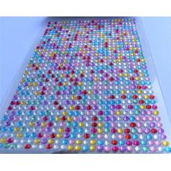Samolepící akrylové kamínky barevné 3mm 750 ks