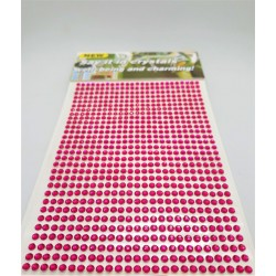 Samolepící akrylové kamínky tmavě růžové 3mm 750 ks