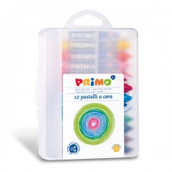 Voskové pastelky PRIMO 10,5 x 84 mm 12ks plastový box