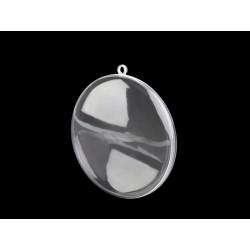 Plastový dvoudílný medailon na zavěšení průměr 9 cm