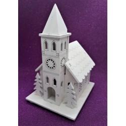 Kostelíček svítící 13 cm x 8 cm x 9,5 cm