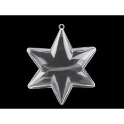 Hvězda plastová dvoudílná průměr 9 cm