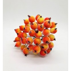 Šípky s omrzlým efektem na svazku 40 kusů oranžovo-žluté