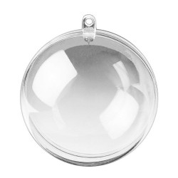 Koule plastová dvoudílná na zavěšení průměr 12 cm