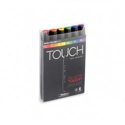 Touch Twin Marker sada 6 barev