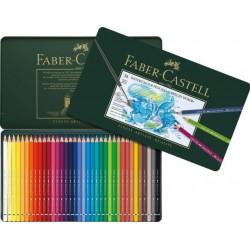 Akvarelové pastelky 36 kusů v kovové kazetě Faber Castell
