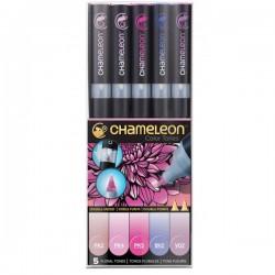 Chameleon tónovací fixy sada 5 kusů růžové tóny