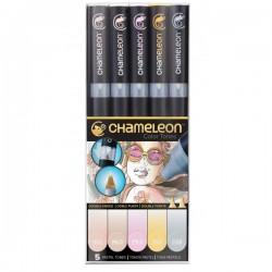 Chameleon tónovací fixy sada 5 kusů pastelové tóny