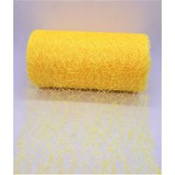 Aranžovací tkanina fibre žlutá 12 cm x 9,1 m