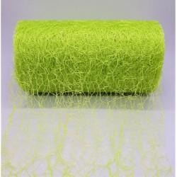 Aranžovací tkanina fibre jarní zelená 12 cm x 9,1 m
