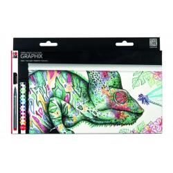 Popisovače Fineliner Graphix 24 kusů Marabu