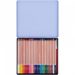 Pastelky akvarelové White Nights v kovové dárkové kazetě 24 ks + štětec