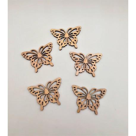 Motýlek přírodní barva 4 x 3 x 0,2 cm