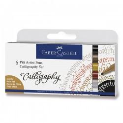 Kaligrafická sada Pitt Artist Pen 6 kusů Faber Castell