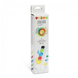 Akrylové barvy sada 6 x 25 ml Primo