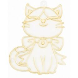 Plastová sklíčka k vybarvení - kočička 2