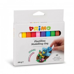 Plastelína 10 barev 180 g Primo