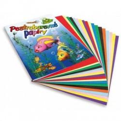 Pestrobarevné papíry sada 20 listů A4