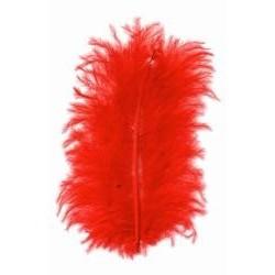 Peří barevné marabu, barva červená