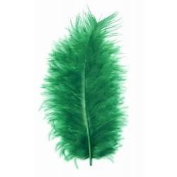 Peří marabu, barva zelená