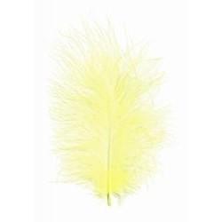 Peří barevné marabu, barva světle žlutá