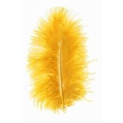 Peří barevné marabu, barva oranžová