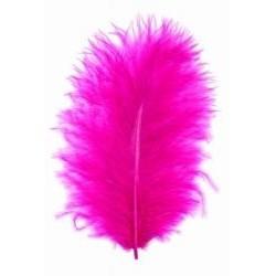 Peří  marabu, barva  fuchsiová