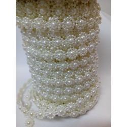 Borta perleťová, odstín yvory, 10 mm
