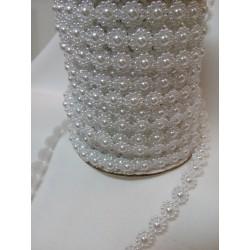 Borta perleťová, odstín bílá, 10 mm