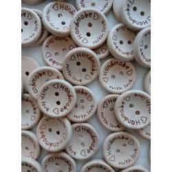 Dřevěné knoflíky Hand made