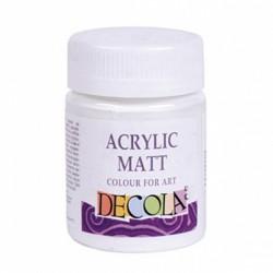 Akrylová barva bílá matná 50 ml Decola
