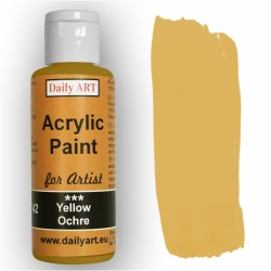 Akrylová umělecká barva Žlutý okr Daily ART