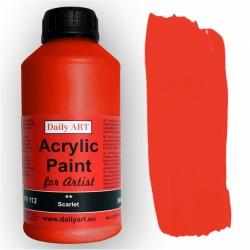 Akrylová umělecká barva Šarlatová 500 ml Daily ART