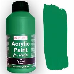 Akrylová umělecká barva Zeleň smaragdová 500 ml Daily ART