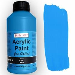 Akrylová umělecká barva Azurová modrá 500 ml Daily ART