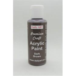 Akrylová prémiová barva tmavě hnědá 50ml Daily ART