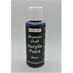 Akrylová prémiová barva černá 50ml Daily ART