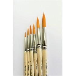 Štětec kulatý 578/4 syntetický zlatý vlas Lineo