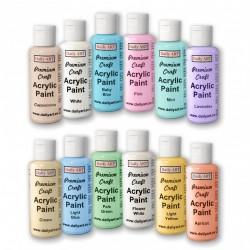 Akrylové prémiové barvy sada 12x50 ml pastelové odstíny Daily ART