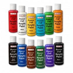Akrylové prémiové barvy sada 12x50 ml základní odstíny Daily ART