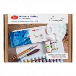 Akrylové studiové barvy sada 8 kusů Sonnet Nevskaya Palitra