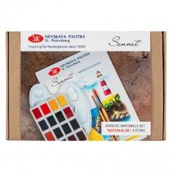 Akvarelové barvy studiové sada 5 kusů Sonnet Nevskaya Palitra